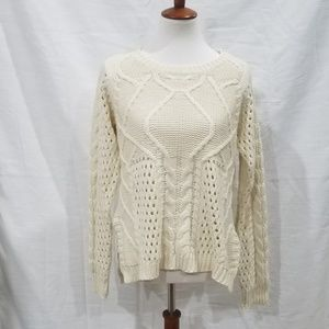 Mystree Ivory Knit Sweater
